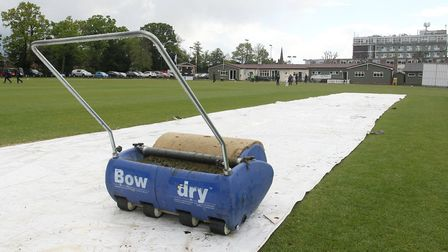 Covers on the pitch at Brentwood CC