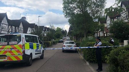 Police in Malvern Drive on Friday, July 12. Picture: Imogen Braddick