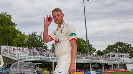 Jamie Porter of Essex leaves the field having taken five wickets during Essex CCC vs Somerset CCC, Specsavers County Champion...