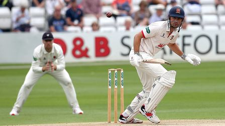 Alastair Cook in batting action for Essex during Essex CCC vs Somerset CCC, Specsavers County Championship Division 1 Cricket...