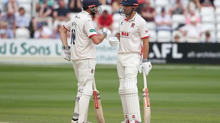 Nick Browne (L) and Alastair Cook of Essex during Essex CCC vs Somerset CCC, Specsavers County Championship Division 1 Cricke...