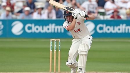 Daniel Lawrence hits 4 runs for Essex during Essex CCC vs Somerset CCC, Specsavers County Championship Division 1 Cricket at...