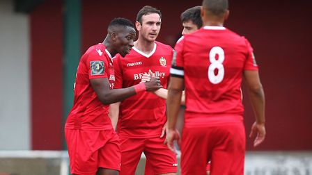 Chris Dickson of Hornchurch celebrates his goal during Hornchurch vs Wingate & Finchley, BetVictor League Premier Division...
