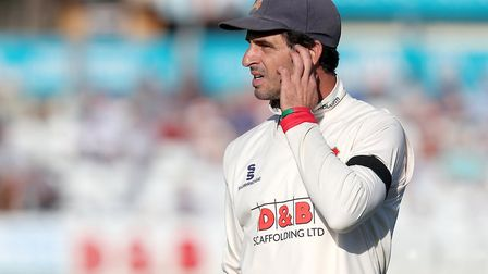 Essex captain Ryan ten Doeschate deep in thought during Essex CCC vs Surrey CCC, Specsavers County Championship Division 1...