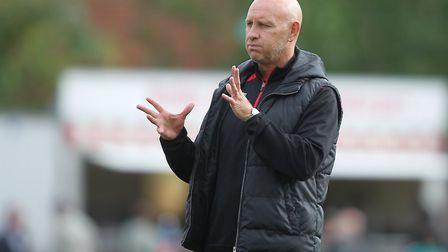 Hornchurch manager Mark Stimson (pic George Phillipou/TGS Photo)