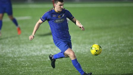 Adam Morgan in action for Romford in the Isthmian League North (pic Gavin Ellis/TGS Photo)