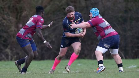 Action from Old Cooperians RFC vs Barking RFC. Picture: Gavin Ellis/TGS Photo