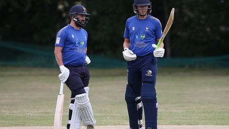 Ollie Ekers and George Ballington of Shenfied during Harold Wood CC vs Shenfield CC (batting), Essex Cricket League...