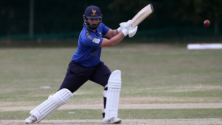 Ollie Ekers of Shenfield during Harold Wood CC vs Shenfield CC (batting), Essex Cricket League Cricket at Harold Wood Park...