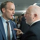 Dominic Raab, the foreign secretary, in an argument with Labour frontbencher Andy McDonald. Photogra