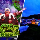 A drive-in pantomime and cinema is running at the Norfolk Showground this Christmas