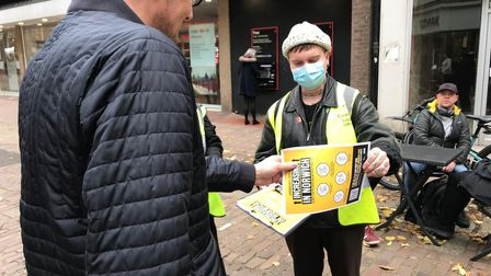 Norwich Covid support officers are enaging with shoppers and businesses to ensure guidelines are bei