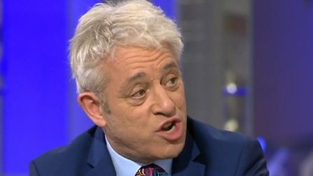 Bercow had quite the put-down for Andrea Leadsom on election night. Picture: Sky