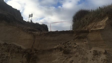 Access to the beach at Winterton