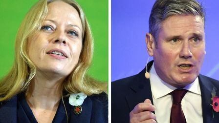 Green Party co-leader Sian Berry and Labour leader Keir Starmer. Pictures: Ben Birchall/Stefan Rousseau/PA
