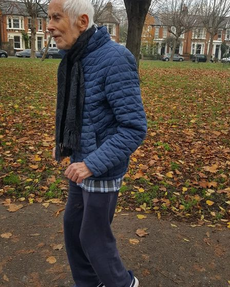 Tony Motture, 92, runs every day. Picture: Jan Hall