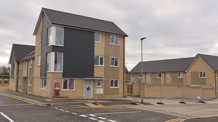 The new homes on the former Tooks site in Ipswich will be ready by Christmas. Picture: Sonya Duncan
