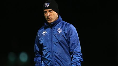 Wingate & Finchley manager Spencer Knight during Hornchurch vs Wingate & Finchley, Pitching In Isthmian League Premier...