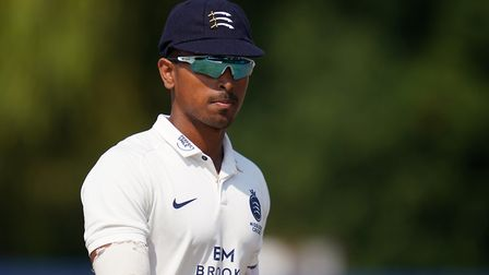 Middlesex's Thilan Walallawita during day two of The Bob Willis Trophy match at Radlett Cricket Club, Radlett.