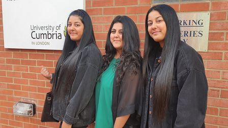 Twins Almas and Raisah, 23, and elder sister Aisha, 24, say their parents love the fact that they're following in their foots...