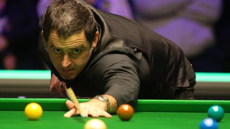 Ronnie O'Sullivan lines up a shot (pic Nigel French/PA)
