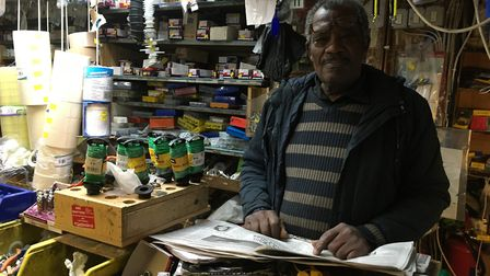 Lionel Alleyne, who owns Handyman DIY in Upton Lane, said parking restrictions have been killing trade. Picture: Jon King