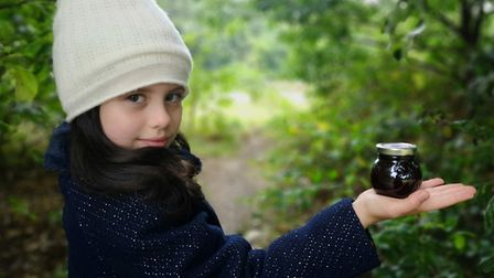 Olivia White, 10, has been selling homemade jam to improve the playground on the Hampstead Heath Extension. Picture...