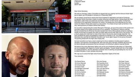 More than 30 Haringey councillors have signed a letter calling on the Home Office to cancel a planned flight tomorrow, to...
