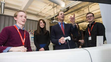 Lucy-Jack aged 15 meeting The Duke and Duchess of Cambridge after winning a BAFTA Young Game Designer award. Picture: Alan...