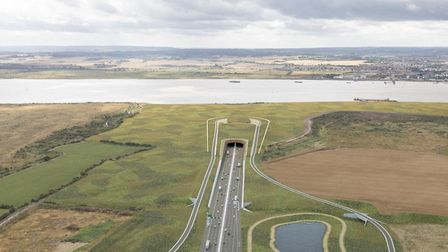 Artist's impression of the original Lower Thames Crossing proposal, which has now been withdrawn. Picture: Highways England