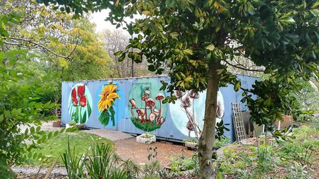 Brightly painted murals have cheered up the Sunnyside Community Garden in Hazleville Road N19
