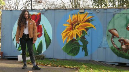 Brightly painted murals have cheered up the Sunnyside Community Garden in Hazleville Road N19 as painted by local artist...