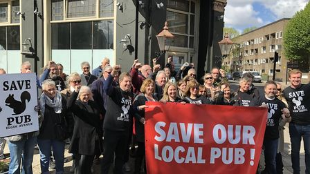 Local residents and campaigners have fought tooth and nail to stave off the pub being lost. Picture: Cllr Tim Roca