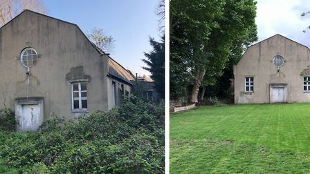 The St Saviour's Church garden, before and after. Picture: St Saviour's Church