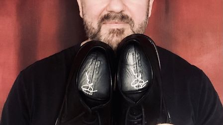 Comedian Ricky Gervais is donating a pair of shoes for the Celebrity Bottom Drawer auction. Picture: EAST ANGLIA'S CHILDREN'S...