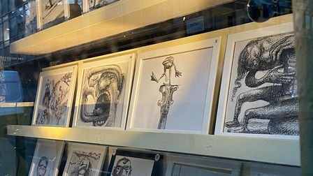 The artists created their illustrations by finishing off each others drawings, comparing the collaborative project to an...