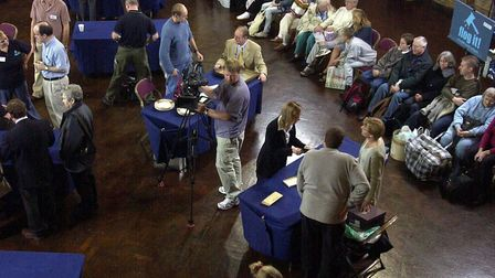 People were keen to get their antiques valued when Flog It! came to Ipswich. Picture: ARCHANT LIBRARY