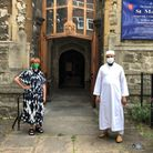 Mother Carol Barrett Ford with Imam Bodrul outside of St Martin's Church, Gospel Oak. Picture: Mother Carol Barrett Ford