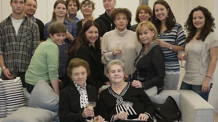 First meeting of the two branches of Nadia Ragozhina's family. In the centre, on the sofa, are grandmother Anna Neyman and...