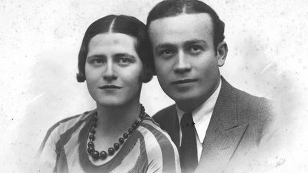 Adolphe's younger daughter Genia with her fianc?, later husband, David. Geneva 1933. Picture: Courtesy of Nadia Ragozhina