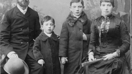 Marcus and Adolphe with their parents. Warsaw, 1891. Picture: Courtesy of Nadia Ragozhina