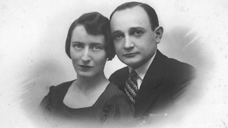 Adolphe's elder daughter Eva with her husband to be Stanis. Geneva 1933. Picture: Courtesy of Nadia Ragozhina