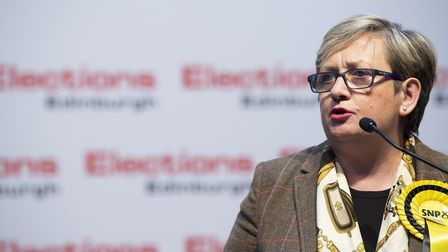 SNP's Joanna Cherry retains her seat in Edinbrgh South West and launched an attack on Boris Johnson.