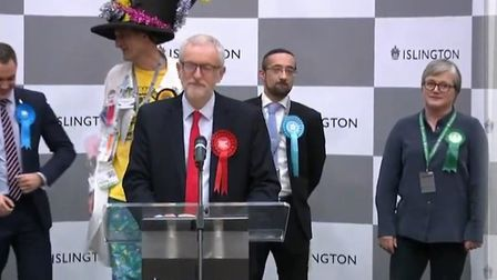 Jeremy Corbyn has announced he will stand down as Labour leader. Picture: Sky