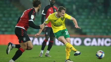 Oliver Skipp of Norwich in action during the Sky Bet Championship match at Carrow Road, NorwichPict