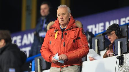 EFL Chairman Rick Parry in the stands before the Sky Bet Championship match at John Smith's Stadium,