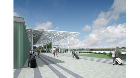 Proposed look of entrance to Bristol Airport
