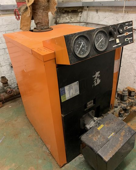 The 30-year-old boiler in The Players Theatre. Picture: Lowestoft Players