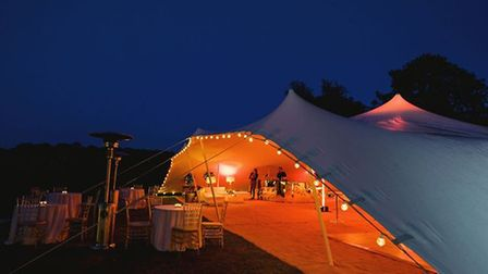 One of the tents which will be used at the Mysabar winterbeer garden, pictured at a different event.