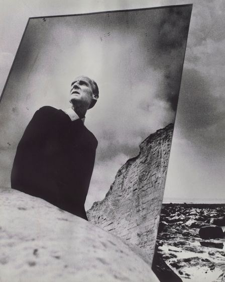 Bill Brandt self-portrait, 1966, on display at the Sainsbury Centre for Visual Arts.
